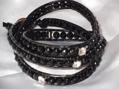 1001 - chan luu cristais pretos e strass verdadeiro - 40,00