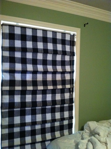 buffalo check roman shades