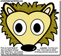 hedgehogs-masks-printables