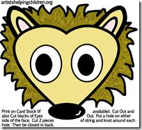 hedgehogs-masks-printables