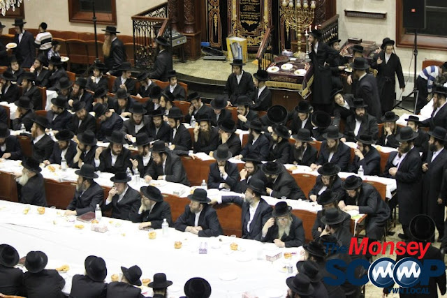 Yartzheit Tish For Stamar Rebbe Held In Satmar Beis Medrash Of Monsey (Photos by Moshe Lichtenstein) - IMG_5453.JPG