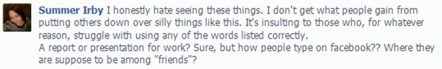 Facebook Grammar