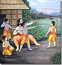 Rama and His brothers with their guru