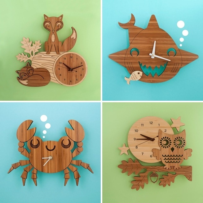 Bamboo Clocks by Graphic Spaces-tile