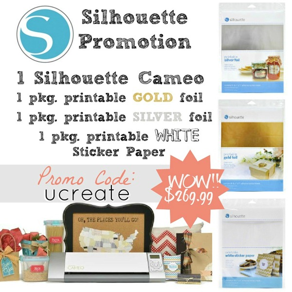 Silhouette Printable Foils Promotion U-createcrafts.com