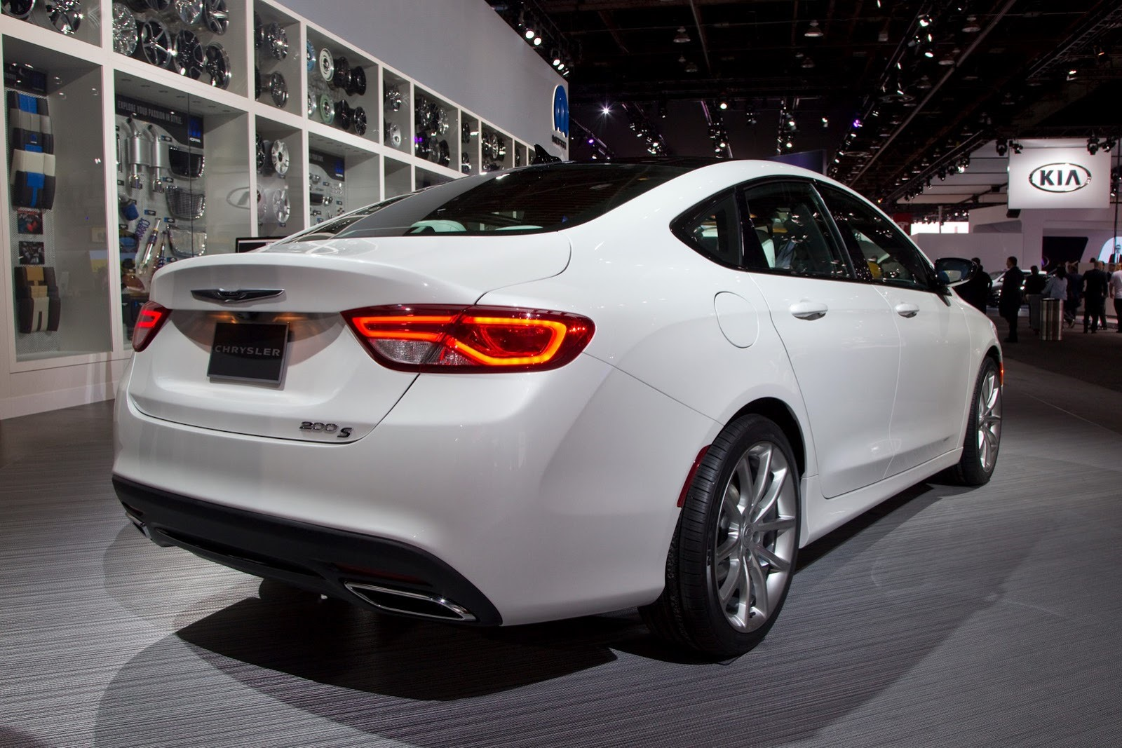 may have noticed a white 2015 chrysler 200 in ourdetroit motor show gallery of the car that s not a regular edition of chrysler s mid size sedan