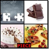 PIECE- 4 Pics 1 Word Answers 3 Letters
