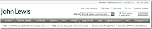 John Lewis for Site Search