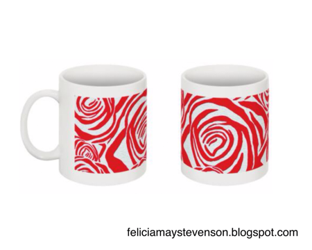Red rose mug by felicianation on store envy