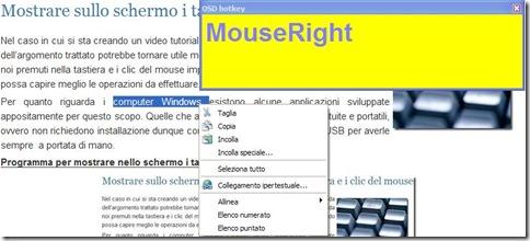 Programma per mostrare nello schermo i tasti/clic del mouse premuti