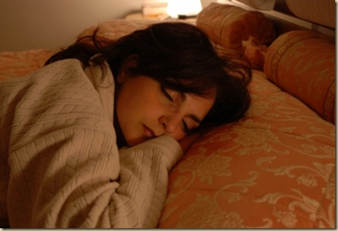 woman sleeping 11-26-12