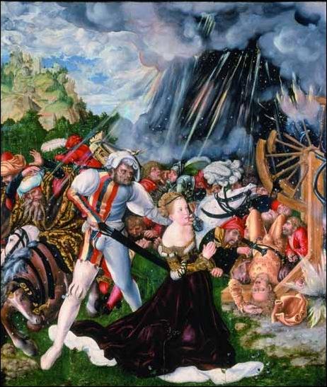 Cranach, Le martyre de St Catherine 1508