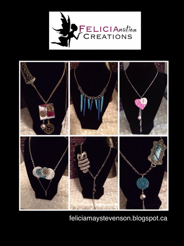 Polymer clay jewelry by Felicianation