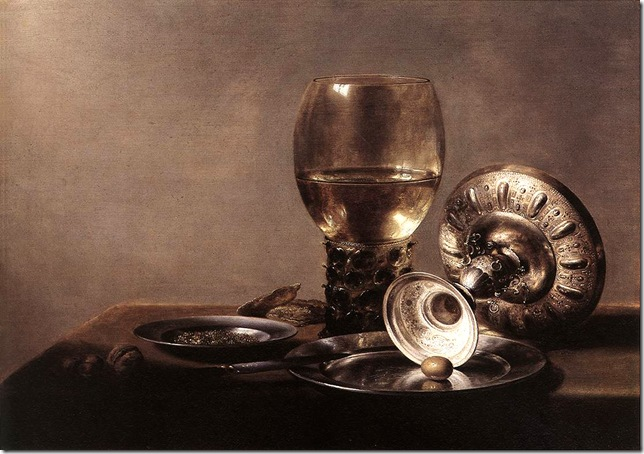 Pieter Claesz_Still-life-with-Wine-Glass-and-Silver-Bowl