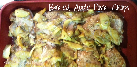baked apple pork chop