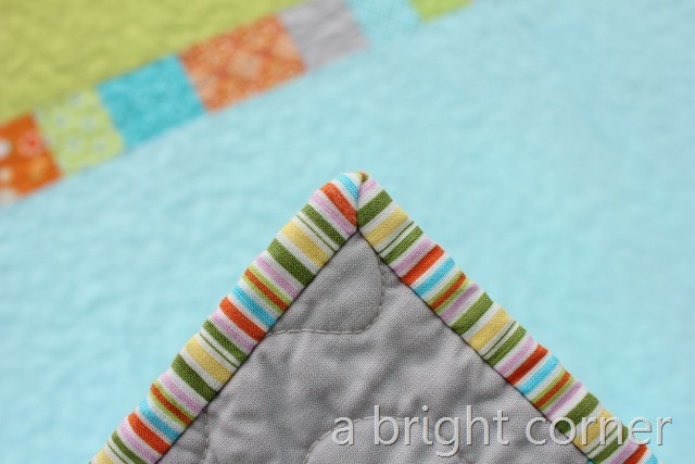 unlinked brights mitered corner close up 1