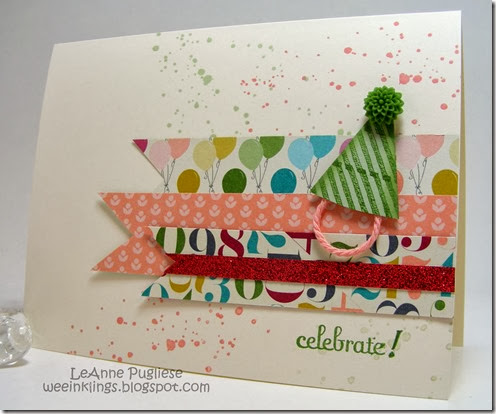 LeAnne Pugliese WeeInklings Paper Players 184 Celebrate Birthday Card Stampin Up