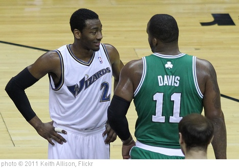 'John Wall and Glen Davis' photo (c) 2011, Keith Allison - license: http://creativecommons.org/licenses/by-sa/2.0/