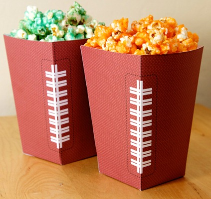 Free Superbowl Popcorn Holders