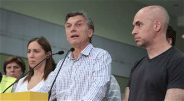 The Mayor of Buenos Aires, Mauricio Macri, declares a state of emergency in the city of Buenos Aires as a result of power outages, on 29 December 2013. He called on the nation to form a committee to 'monitor the crisis' and work to solve the problems. Photo: M24 Digital