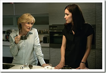 "Damages - ""Tastes Like a Ho Ho"" - Glenn Close as Patty, Rose Byrne as Ellen - Larry Riley/FX<br /><br />DAMAGES: Glenn Close (L) and Rose Byrne (R) in DAMAGES, airing Tuesday, Aug. 14 (10:00-11:00 PM ET/PT) on FX. Photo credit: Larry Riley / FX"