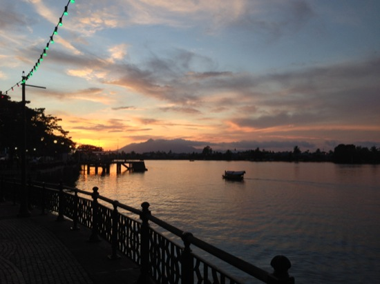 Sunset over Kuching