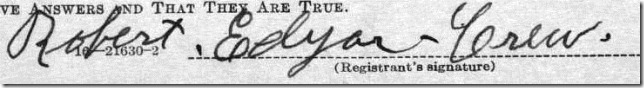 Robert Edgar Crew Signature