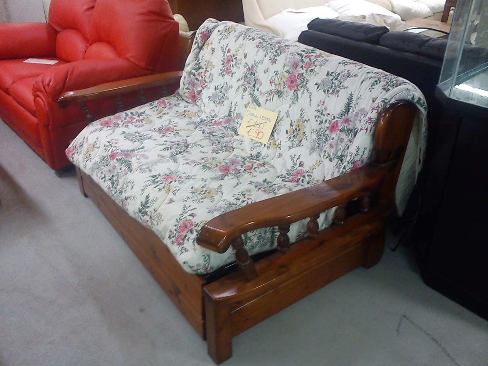 Portobello divano letto in legno 90 - Divano letto legno ...