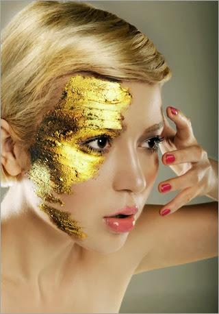 gold-paint-makeup