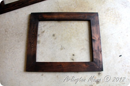 """staining wood frame"", ""bird painting"", ""birds in tree painting"", ""diy wood frames"", ""picture frames for canvas"""