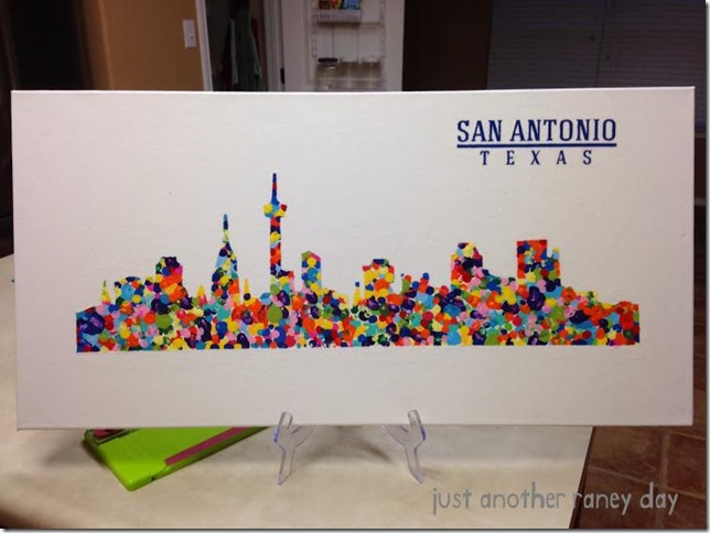 San Antonio Texas Silhouette for School Auction - justanotherraneyday.blogspot.com