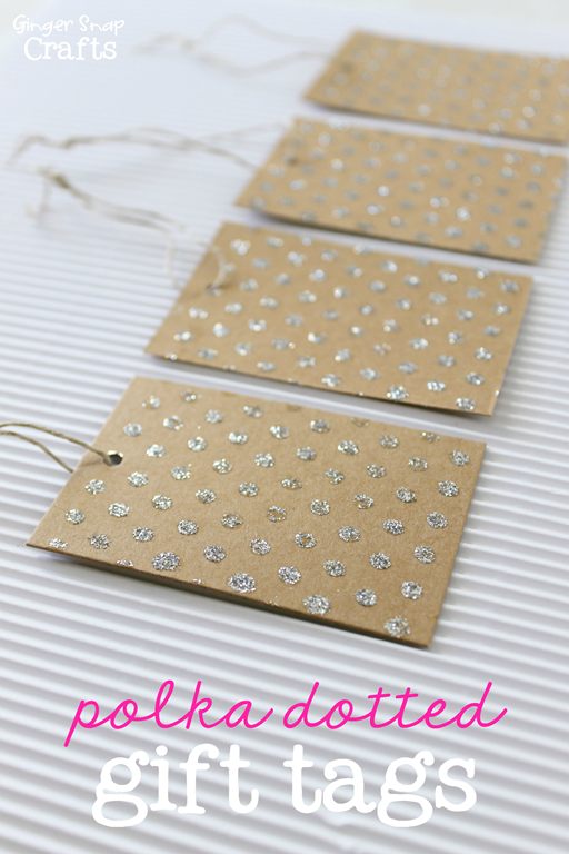 polka dotted gift tag from GingerSnapCrafts.com #modgepodge #plaid