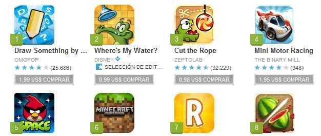 descargar juegos de Google play