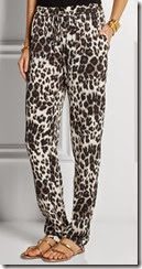 Diane von Furstenberg Stretch Silk Printed Trousers