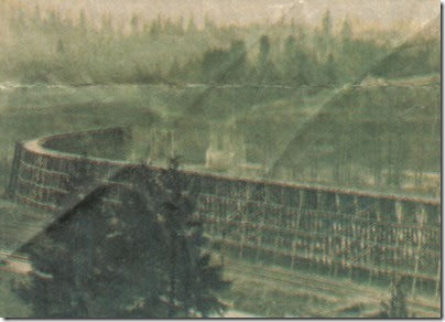 Cowlitz River Railroad Bridge in Kelso, Washington in 1925