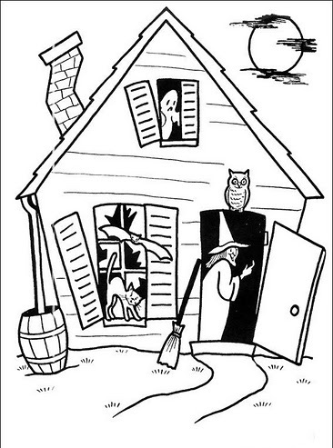 Dibujos Para Pintar De Terror Dibujo de Castillo del terror para ...