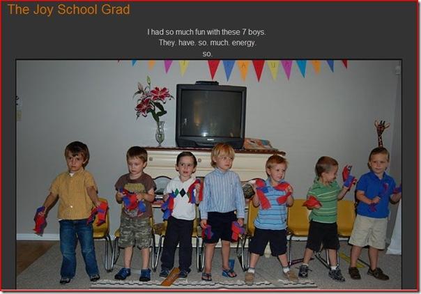 JOY SCHOOL GRADUATION