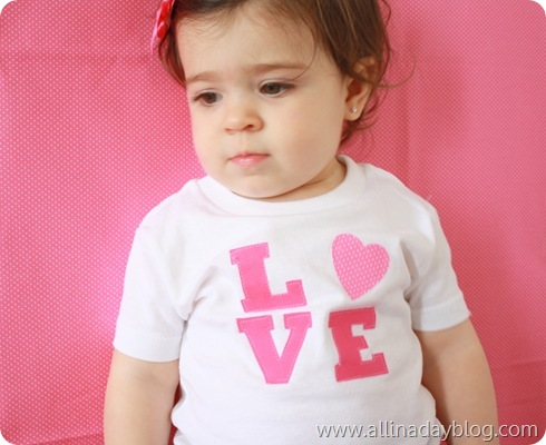 Valenine's shirt for toddler