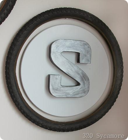metallic look paper mache letters
