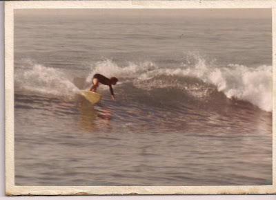 Brad going backside making a hard cutback!