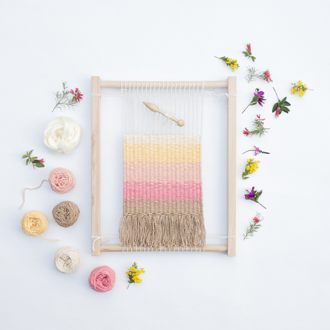 Eco Weaving Kit by Alchemy - Summer Wildflowers