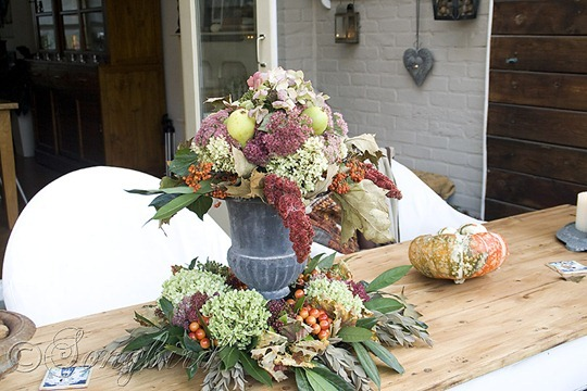 Fall Outside Decoration Table Centerpiece 2