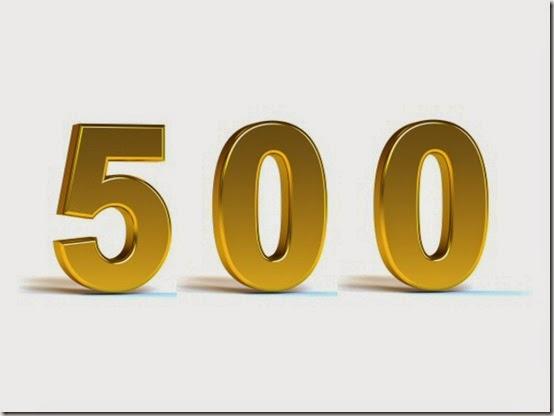 numero-cinquecento-number-500