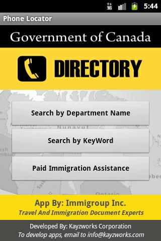Canadian Government Directory