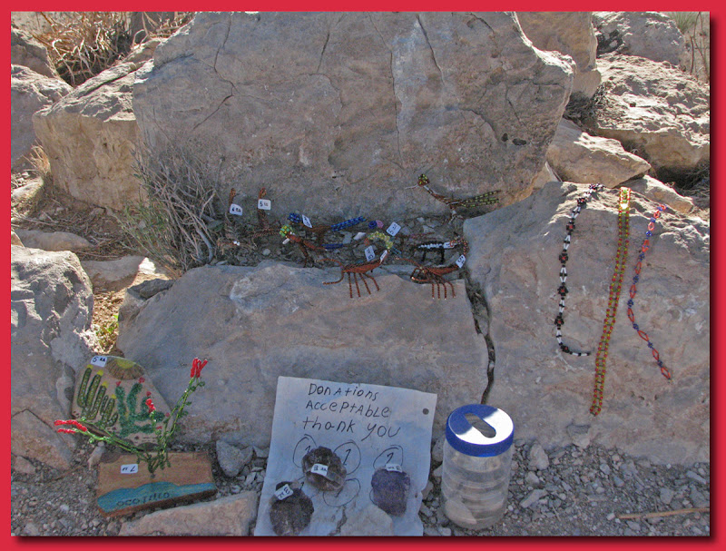 Mex trinkets along the trail