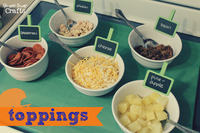 pizza toppings football party ideas #cbias #gamedaygoodies #shop