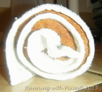 pumpkin roll in a towel