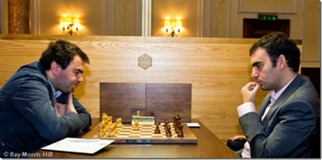 Mamedyarov vs Dominguez, round 9, FIDE GP London 2012