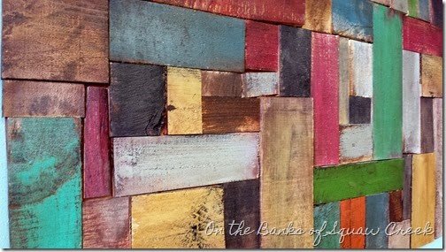 DIY reclaimed pallet wood