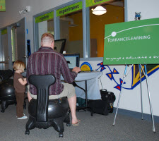 TorraceLearning's ball chairs were a HUGE hit at Ann Arbor, MI's - Hands On Museum - Night at The Museum event.